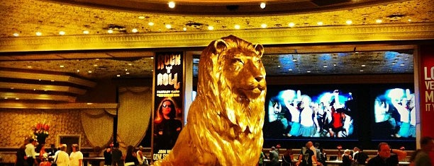 MGM Grand Lion Statue is one of Vegas Bound Bitches 13'.