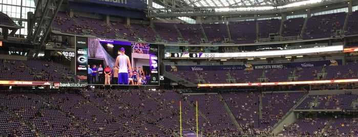 U.S. Bank Stadium is one of sports arenas and stadiums.