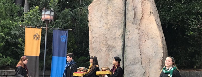 Triwizard Spirit Rally / Frog Choir is one of Universal's Wizarding World of Harry Potter.