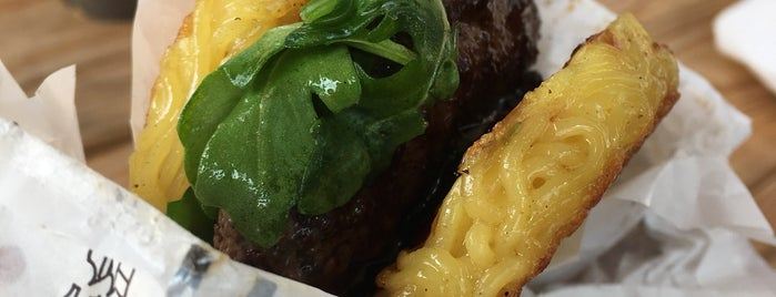 The Original Ramen Burger by Keizo Shimamoto is one of NYC lunch.