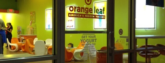 Orange Leaf Frozen Yogurt is one of Lieux sauvegardés par Kim.