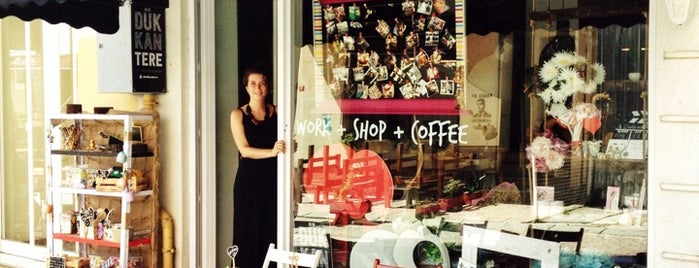 DukkanTere Work & Shop & Coffee is one of Lieux sauvegardés par Ozge.