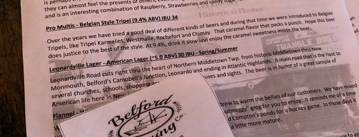 Belford Brewing Company is one of NJ Breweries.