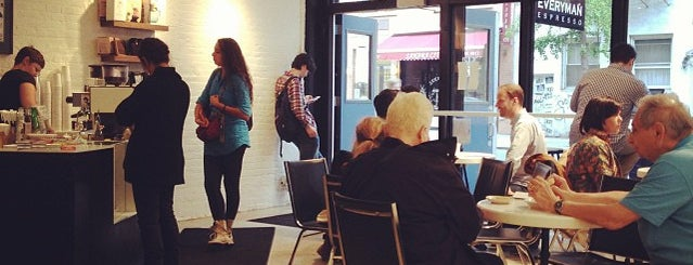 Everyman Espresso is one of Coffee Shops Below 14th Street.