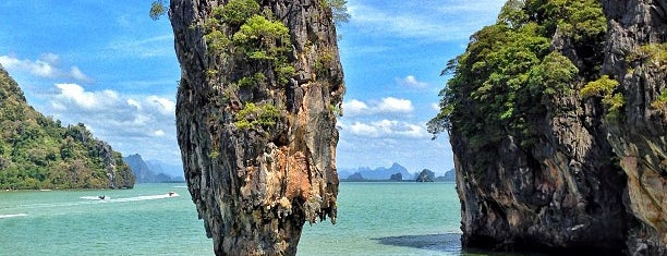 Koh Tapu (James Bond Island) is one of Phuket.