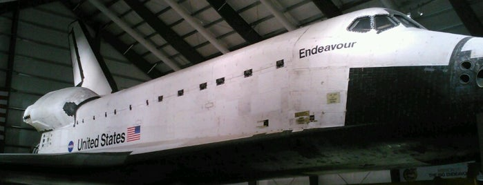 Space Shuttle Endeavour is one of Los Angeles.
