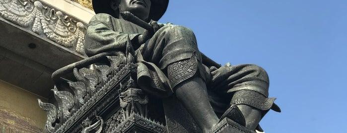 KingBuddha Yodfa Chulaloke Monument (King Rama I) is one of Trips / Thailand.
