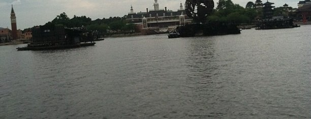 Friendship Boat Dock - World Showcase Plaza East is one of Transportation & Misc Disney World Venues.
