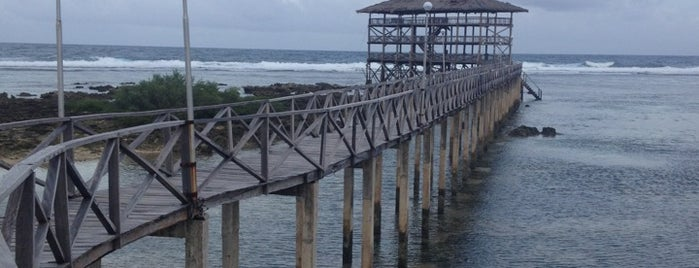 Cloud 9 is one of Siargao.