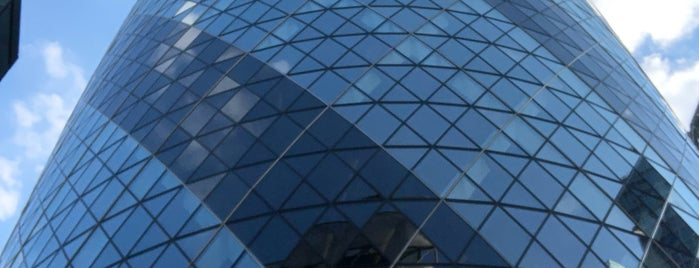 30 St Mary Axe is one of London calling.