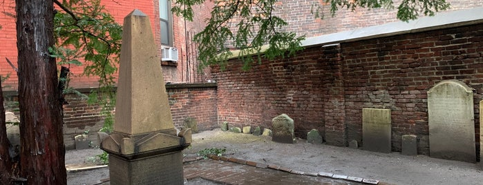 The Second Cemetery of the Spanish and Portuguese Synagogue Shearith Israel in the City of New York 1805-1829 is one of Atlas Obscura NYC.