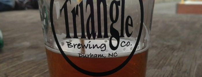 Triangle Brewery is one of Durham Favorites.