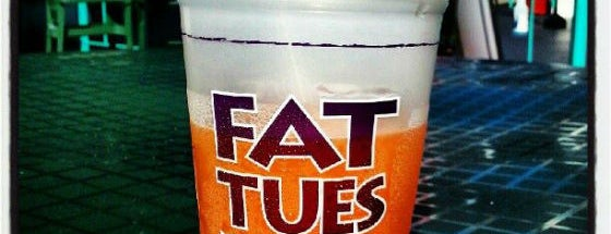 Fat Tuesday is one of Top Ten Places to Get Frozen Drinks In Miami.