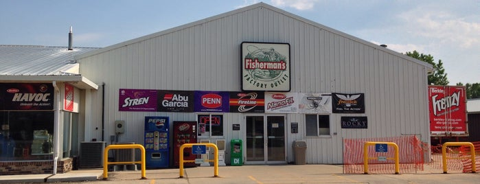Fisherman's Factory Outlet is one of Iowa.