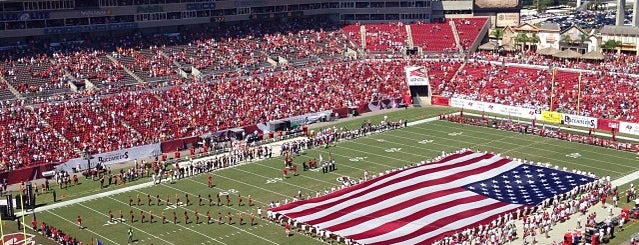 Raymond James Stadium is one of Amarica Football.
