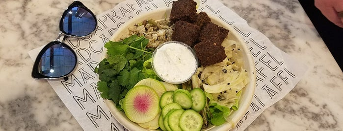 Kismet Falafel is one of LA healthy.