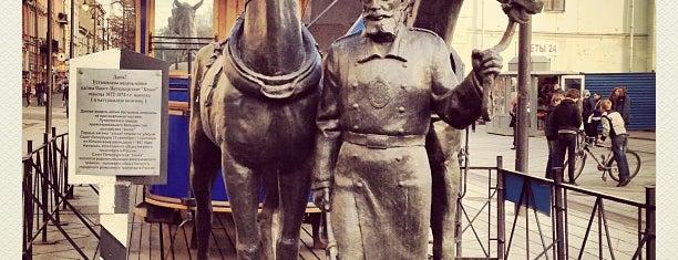 Памятник первой конке is one of СПб. Необычные места.