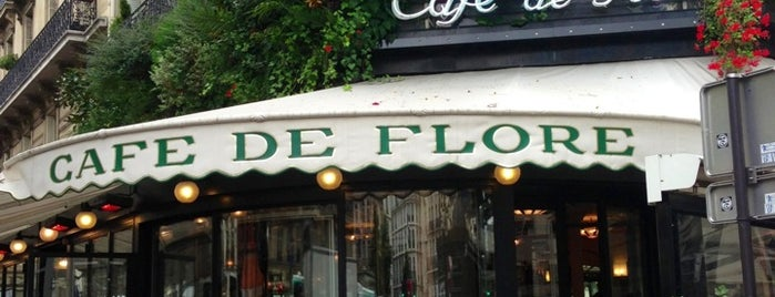 Café de Flore is one of Paris gourmand, Paris gourmet.