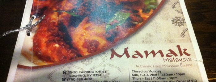 Mamak House is one of Michelin Guide NYC 2014 - Bib Gourmand.