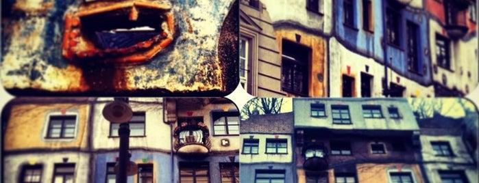 Hundertwasserhaus is one of Vienna.