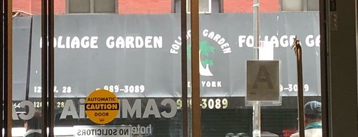 Foliage Garden is one of NYC Best Shops.