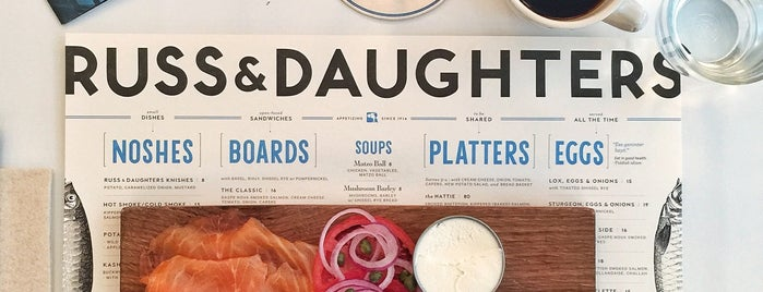 Russ & Daughters Café is one of New York City.