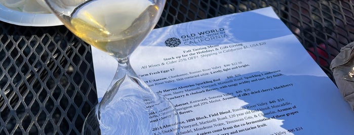 Old World Winery is one of Sonoma 2018.