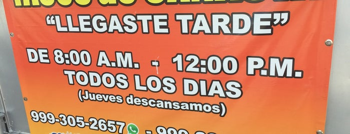 Llegaste Tarde (tacos De Canasta) is one of Merida.