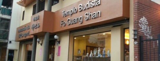 Templo Budista Fo Guang Shan is one of vegetarianos.