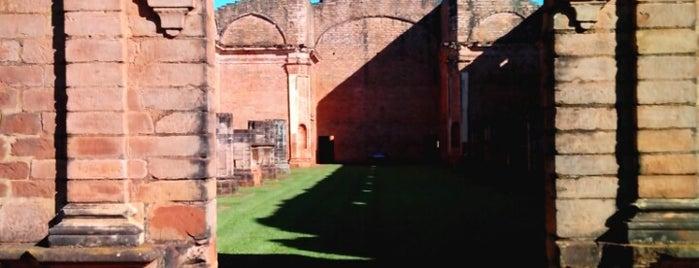 Ruinas Jesuíticas Jesús de Tavarangüé is one of UNESCO World Heritage Sites in South America.