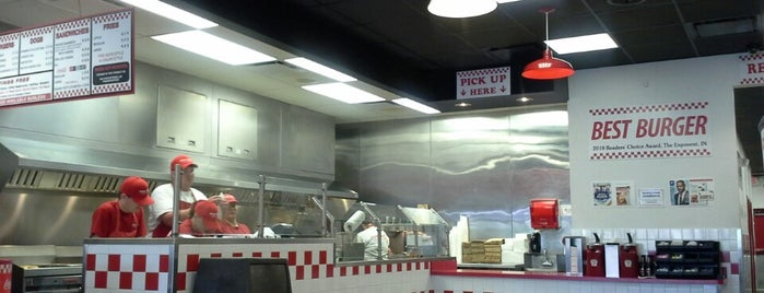 Five Guys is one of Best Places to Eat at Purdue.