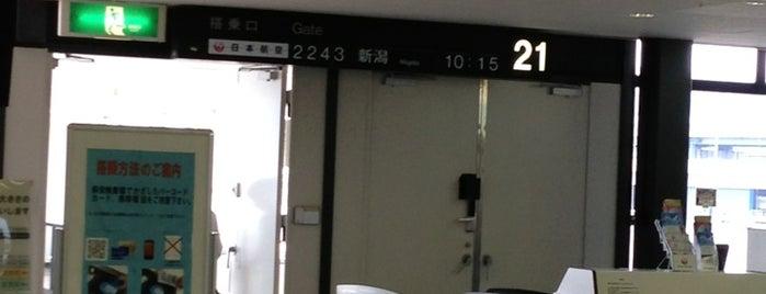 Gate 21 is one of 大阪国際空港(伊丹空港) 搭乗口 ITM gate.