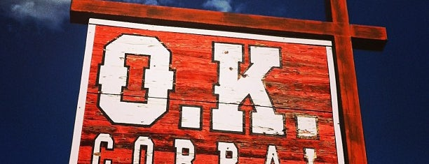 O.K. Corral is one of West Coast Sites.