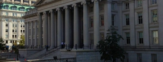 US Department of the Treasury is one of DC Monuments Run.