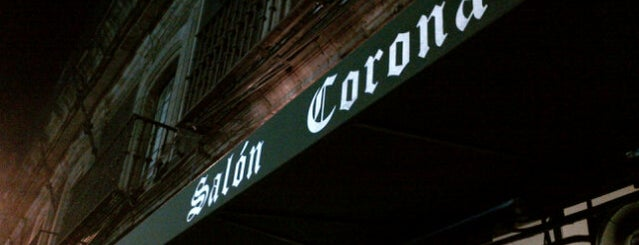 Salón Corona is one of Imprescindibles.