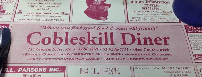 Cobleskill Diner is one of Restaurants.