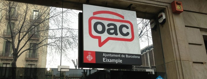 Oficina d'Atenció Ciutadana de l'Eixample is one of Barcelona.
