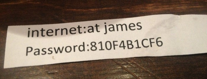 At James is one of Free WiFi Amsterdam.