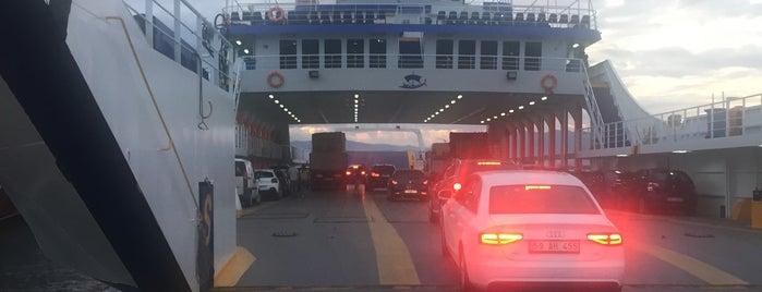 Thassos-Keramoti Ferry is one of Lugares favoritos de Eser Ozan.
