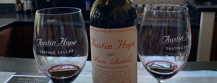 Treana/Austin Hope Tasting Cellar is one of Dog friendly Paso Robles.
