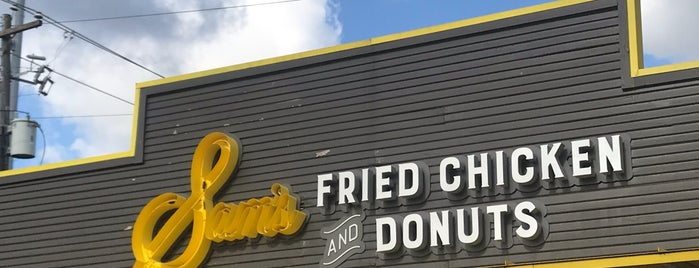 Sam's Fried Chicken & Donuts is one of #seeyouintexas.