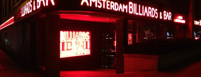 Amsterdam Billiards & Bar is one of NYC Nightlife.