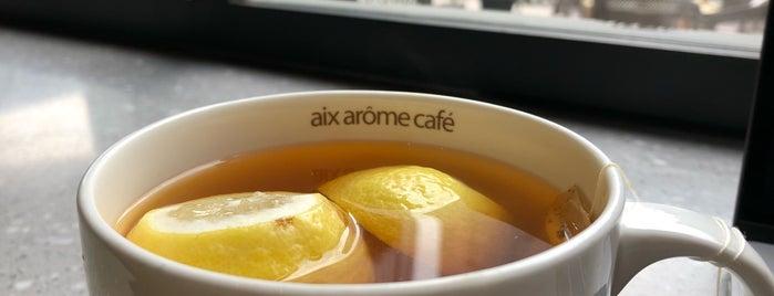 埃克斯咖啡 Aix Arôme Coffee is one of Tempat yang Disukai Ibrahim.