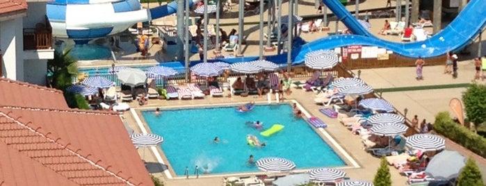 Eftalia Aqua Resort Hotel is one of Tempat yang Disukai Fatma.
