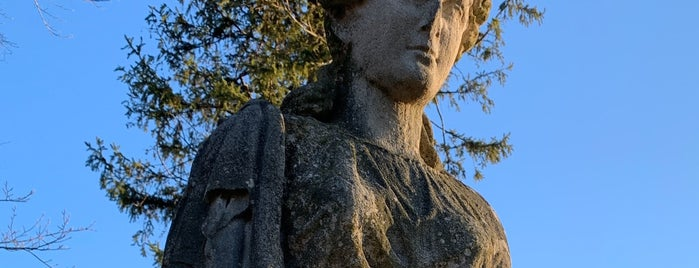 Lady Baltimore Statue at Cylburn Arboretum is one of The Great Baltimore Check-In.