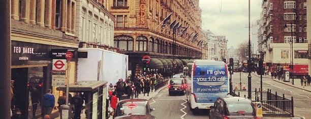 Knightsbridge is one of London.