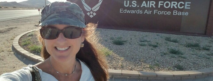 Edwards Air Force Base is one of Arthur's places to visit.