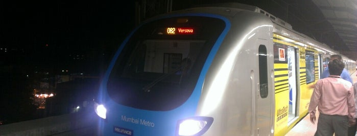 Ghatkopar Metro Station is one of Line 1 (Mumbai Metro).