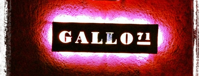 Gallo 71 is one of Locais salvos de Lacho.