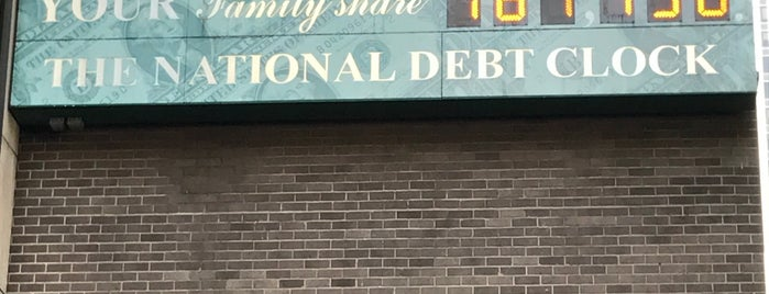 National Debt Clock is one of New York City.